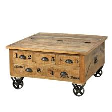 Wohnzimmertisch Kiste Couchtisch Truhe Brave Aus Mangoholz Pharao24 De