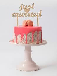 just married wedding cake topper rustic wood cake topper