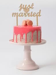 Heart Wedding Cake Just Married Wedding Cake Topper Rustic Wood Cake Topper