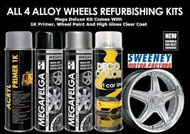 Spray Painting Your Rims All 4 Alloy Wheels Refurbishing Kit Set Rims Spray Paint Top Coat 4
