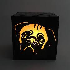 pug candle box led candle pug lantern candle votive dog