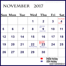 november 2017 calendar with holidays calendar designs