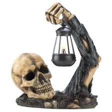 skull decor gifts decor sinister skull with lantern