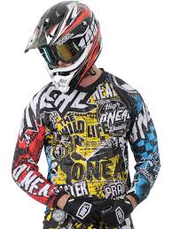oneal motocross jersey oneal multi 2015 element wild mx jersey