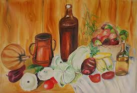 Artwork For Dining Room Dining Room Art Painting By Mita Pradhan