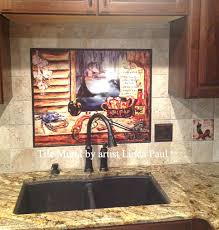 ceramic tile murals for kitchen backsplash black and white kitchen plan and also ceramic tile murals for