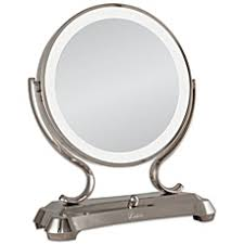 Lighted Makeup Vanity Mirror Vanity U0026 Travel Mirrors Lighted Vanity Mirrors Bed Bath U0026 Beyond