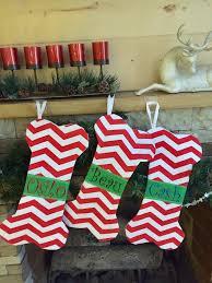 christmas stockings sale doggie red chevron bone christmas stockings santa stocking