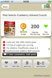 scan the barcode on food and it will give it a grade tell you