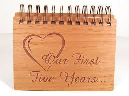 five year anniversary gift anniversary photo album 5 year anniversary wood anniversary on