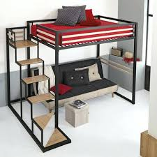lit mezzanine noir avec bureau lit mezzanine 2places lit mezzanine blanc 2 places idee lit
