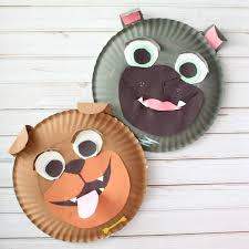 rolly and bingo paper plate kids craft inspired by disney junior