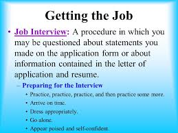 Job Application And Resume by Unit 1 Employment Basics Ppt Video Online Download