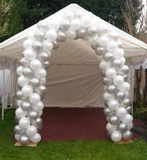 wedding balloon arches uk arch in silver white