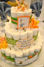 oh the places you will go baby shower diaper cake centerpieces