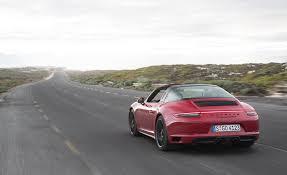 porsche side view 2017 porsche 911 targa 4 gts red test drive rear and side view