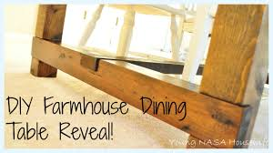 Homemade Kitchen Table by Diy Farmhouse Dining Table Reveal Youtube