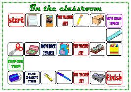 classroom board game worksheet free esl printable worksheets