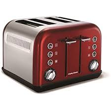 Red Toasters For Sale Morphy Richards Accents Toaster 1800 Watt Red Amazon Co Uk