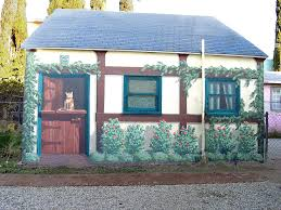 Cottage Los Angeles by Cottage Mural Los Angeles Painting By Tim Cornelius