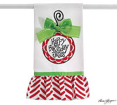 happy birthday jesus towel tea towels decor