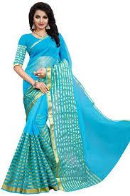 Buy Green Plain Cotton Silk Plain Bollywood Raw Silk Sari Dark Blue Buy Latest Collections