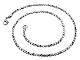 round chain necklace images Stainless steel 22 quot round box chain necklace 3 0 mm gif