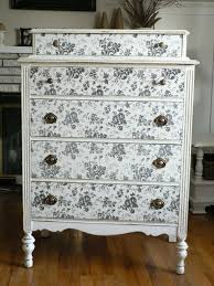 Update A Dresser Update An Old Dresser With Patterned Paper Vintage Decor
