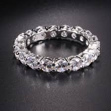 wedding rings pave images Luxury 925 silver pave setting full cz eternity band engagement jpg