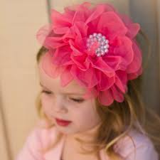tulle flowers tulle flower headband hot pink giggle me pink