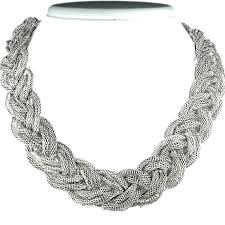 multi chain necklace images Braided chain necklace fashion plaited statement costume jewellery uk jpg