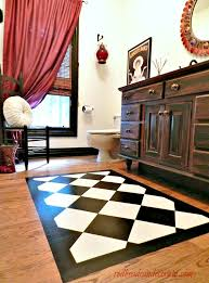 paint a rug on your wood floor can decorate