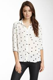 bee print blouse smart casual blouse