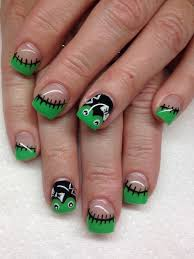 50 cool halloween nail art ideas hand drawn and foxes