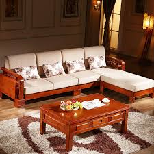 L Shaped Sofa Bed Solid Wood Oak Versatile L Shaped Sofa With Chaise Fabric Sofa Bed
