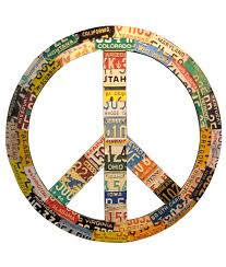 Usa License Plate Map by Recycled License Plate Peace Sign License This Uses For An Old