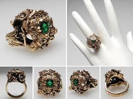 emerald antique rings images Antique emerald engagement rings jpg