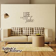 life is better at the lake vinyl wall decal