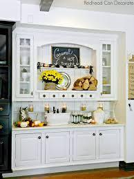 kitchen hutch decorating ideas rustic autumn hutch can decorate