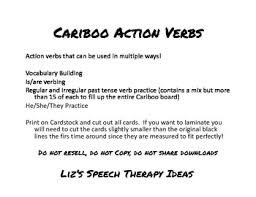 cariboo cards for language categories and action verbs by liz haider
