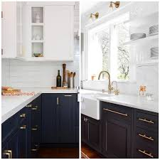 white and taupe lower kitchen cabinets 4 ways to use navy blue in your kitchen big chill