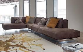 divani per salotti gallery of soggiorno con divano marrone moderni per salotto mobili