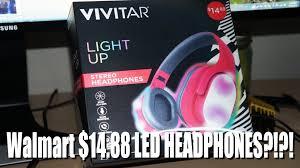 led headphones for 15 vivitar light up stereo