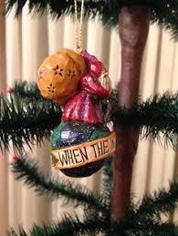 pam schifferl made cast santa and deer ornament