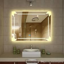 Illuminated Bathroom Wall Mirror Lighted Bathroom Wall Mirror Home Design Inspiration