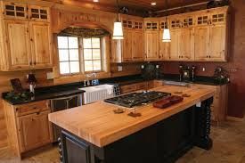 Hickory Kitchen Cabinets Wood Nutmeg Windham Door Rustic Hickory Kitchen Cabinets