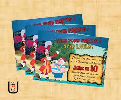 jake and the neverland pirates birthday invites jake and the neverland pirates diy invitations