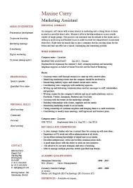 resume exles for assistant marketing assistant resume description template exle