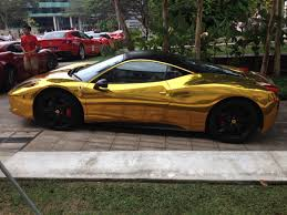golden ferrari 458 gold chrome ferrari 458 italia madwhips