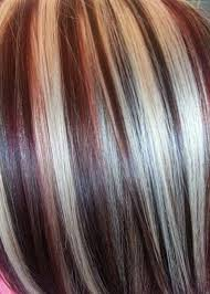 blonde and burgundy hairstyles top 15 colored hairstyles and haircuts burgundy highlights
